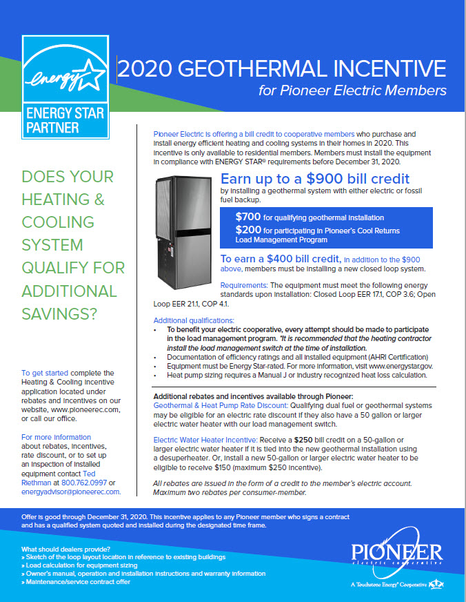 2020 Geothermal Incentive Form
