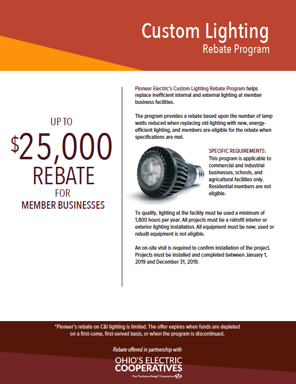 Custom Lighting Rebate
